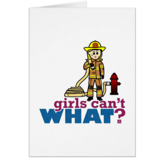 Firefighter Girls Greeting Card