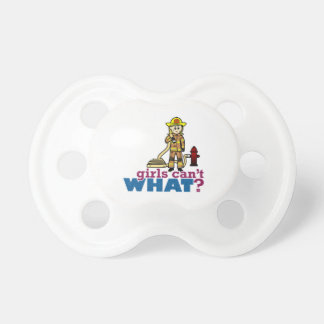 Firefighter Girls Baby Pacifiers