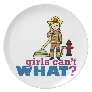 Firefighter Girls Plate