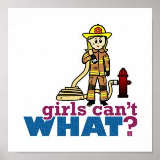 Firefighter Girls Poster