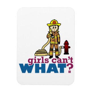 Firefighter Girls Vinyl Magnets