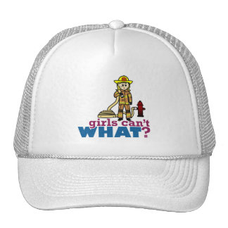 Firefighter Girls Trucker Hats
