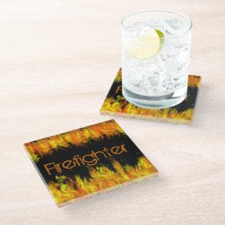 Firefighter Glass Coaster