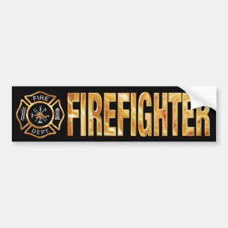 Firefighter Gold Bumper Sticker