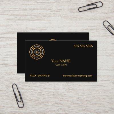 Firefighter business cards zazzle colourmoves