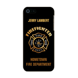 Firefighter Gold Name Template Metallic Phone Case For iPhone SE/5/5s