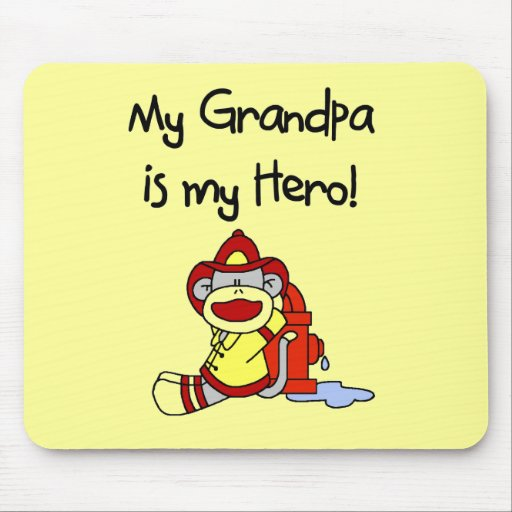 Firefighter Grandpa Hero Tshirts and Gifts Mouse Pad