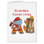Firefighter Grandpa T-shirts and Gifts Greeting Card