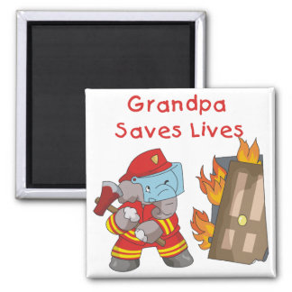 Firefighter Grandpa T-shirts and Gifts Magnet