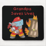 Firefighter Grandpa T-shirts and Gifts Mouse Pad