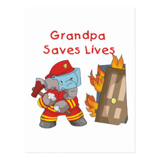 Firefighter Grandpa T-shirts and Gifts Postcard