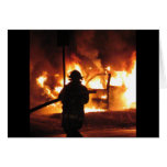 Firefighter Handline Greeting Card