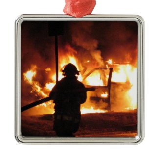 Firefighter Handline ornament