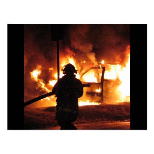 Firefighter Handline Post Cards