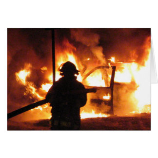 Firefighter Handline Stationery Note Card