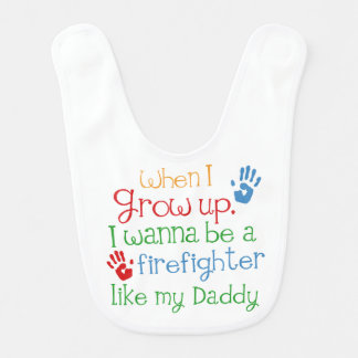Firefighter handprints Baby Gift Bib