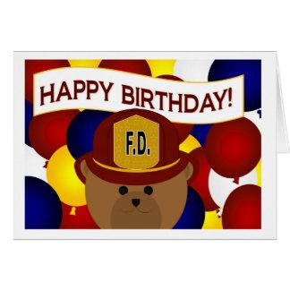 Firefighter - Happy Birthday Firefighter Hero! Card