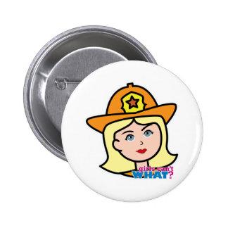 Firefighter Head Blonde Pins