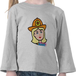 Firefighter Head Blonde Tshirts