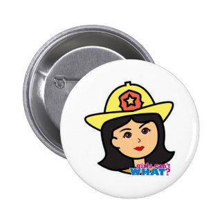 Firefighter Head Medium Button