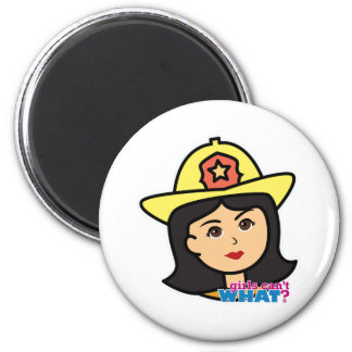 Firefighter Head Medium Fridge Magnets