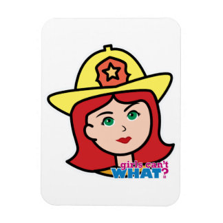 Firefighter Head Red Rectangle Magnet