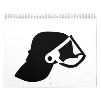Firefighter helmet calendar