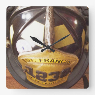 Firefighter Helmet Wall Clock