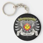 Firefighter Heraldry Basic Round Button Keychain