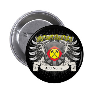 Firefighter Heraldry Pinback Button