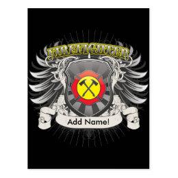Firefighter Heraldry Postcard