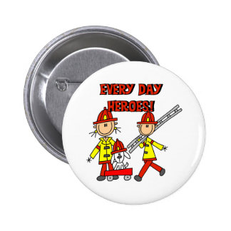 Firefighter Heroes Button