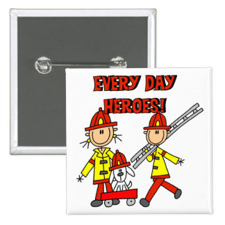 Firefighter Heroes Tshirts and Gifts Button