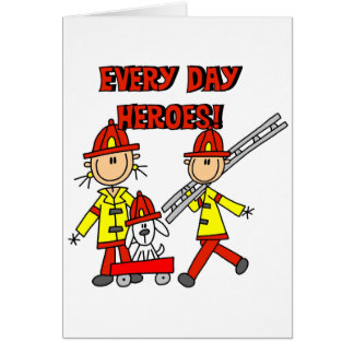 Firefighter Heroes Tshirts and Gifts Card