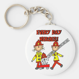 Firefighter Heroes Tshirts and Gifts Keychain