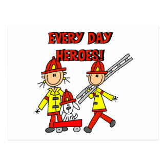 Firefighter Heroes Tshirts and Gifts Postcard