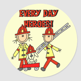 Firefighter Heroes Tshirts and Gifts Stickers
