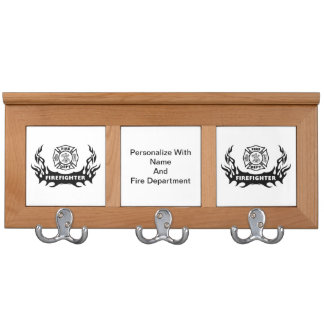 Firefighter Home and Station Coat Rack