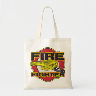 Firefighter Hose and Shield Budget Tote Bag