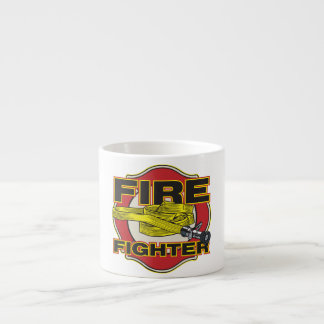 Firefighter Hose and Shield Espresso Cup
