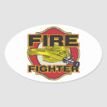 Firefighter Hose and Shield Stickers