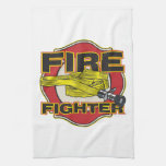 Firefighter Hose and Shield Towel