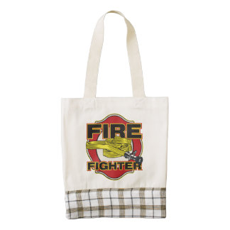 Firefighter Hose and Shield Zazzle HEART Tote Bag