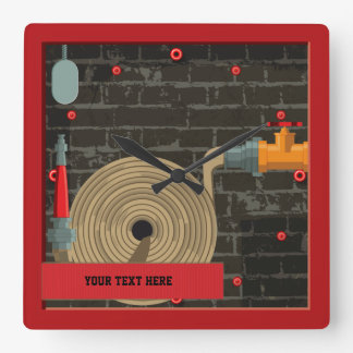 FireFighter Hydrant Booster Wall Clock