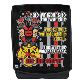 Firefighter I Am the Storm Backpack