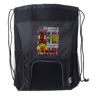 Firefighter I Am the Storm Drawstring Backpack