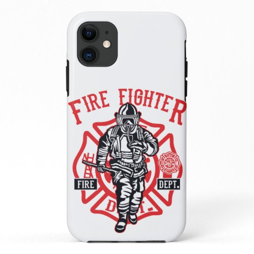 Firefighter in action iPhone 11 case