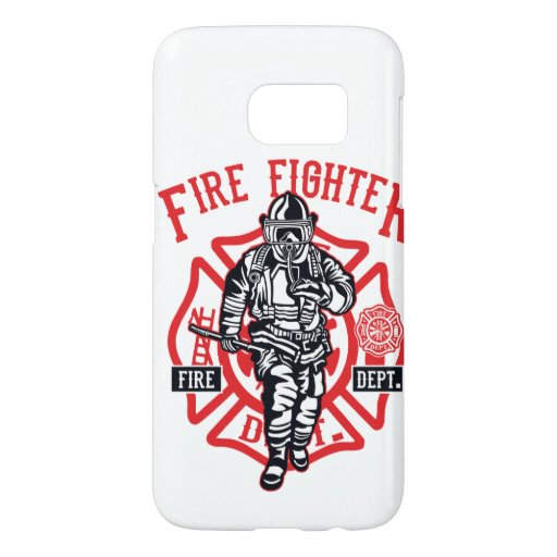 Firefighter in action samsung galaxy s7 case