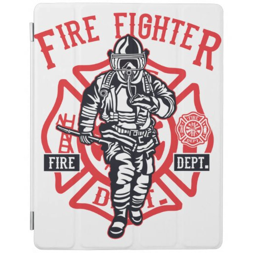Firefighter in action iPad smart cover