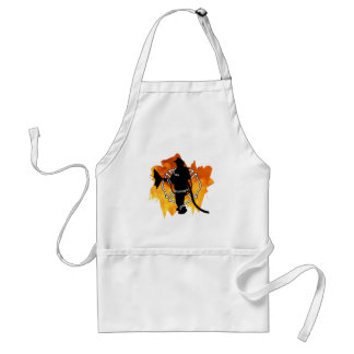 Firefighter IN Flames Adult Apron